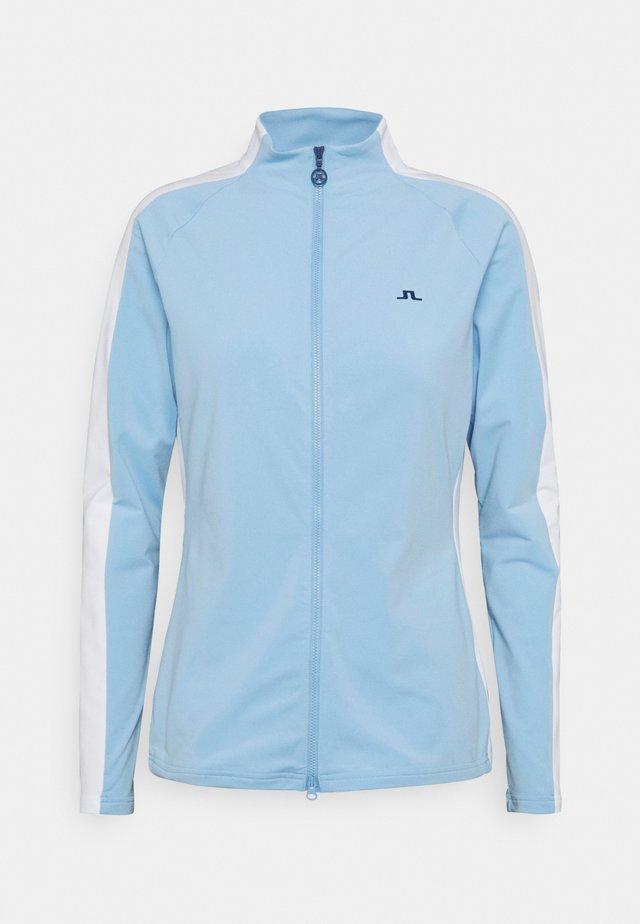 MARIE GOLF MID LAYER - Zip-up hoodie - summer blue