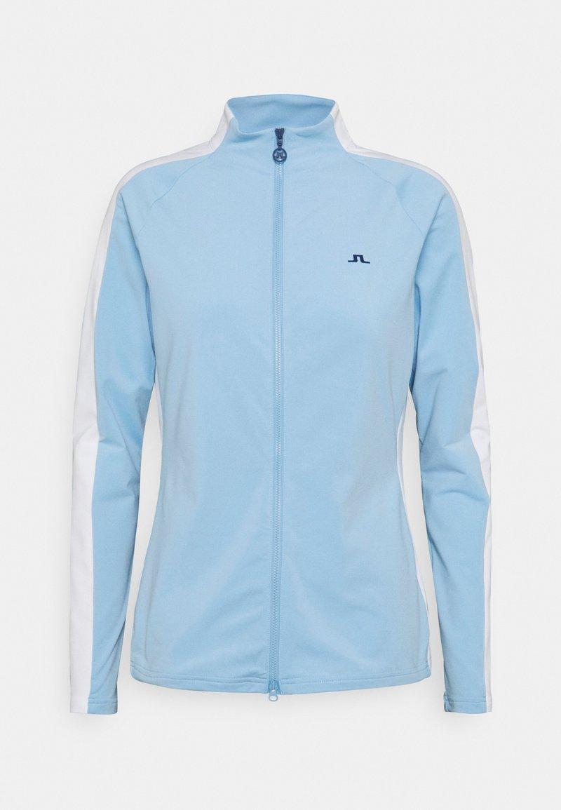 J.LINDEBERG - MARIE GOLF MID LAYER - Zip-up hoodie - summer blue
