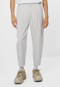 Bershka - Trousers - grey - 0