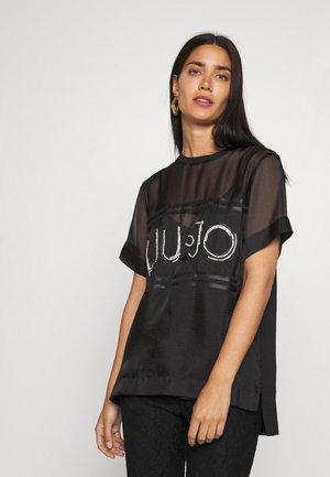 RICAMATA - Print T-shirt - nero