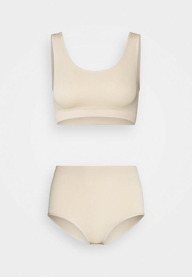 MARIT METTE SET - Biustonosz bustier - beige light