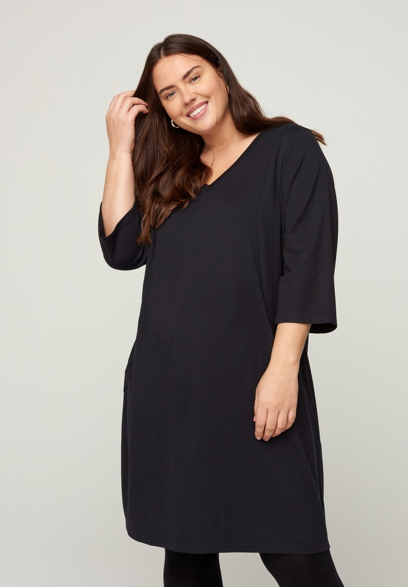 Zizzi - Jersey dress - black