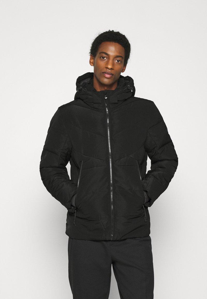 TOM TAILOR DENIM - HEAVY PUFFER JACKET - Winter jacket - black