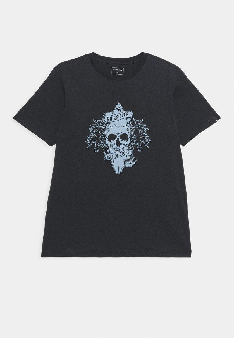 Quiksilver - NIGHT SURFER - Print T-shirt - black