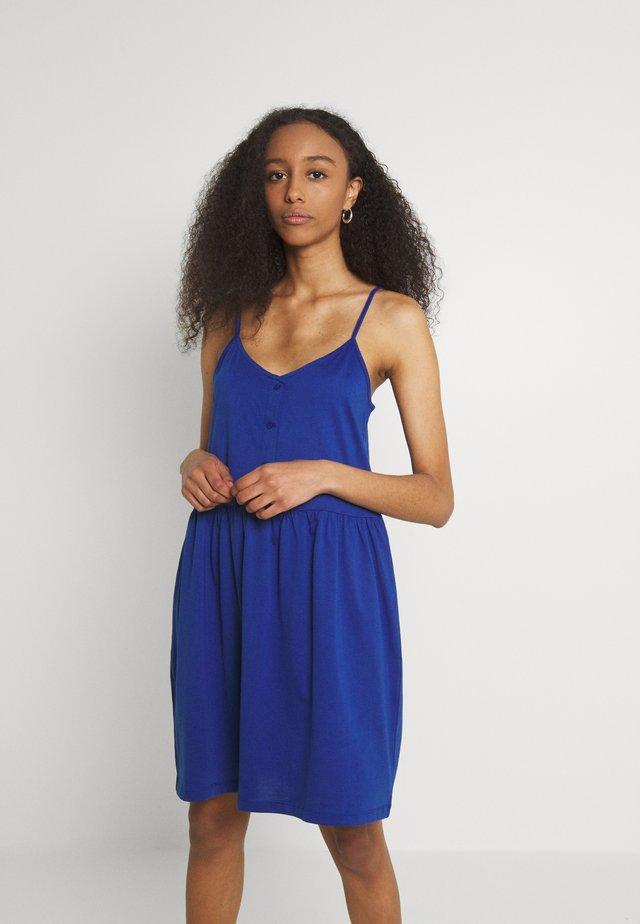 VIDREAMERS SINGLET SHORT DRESS - Žerzejové šaty - mazarine blue