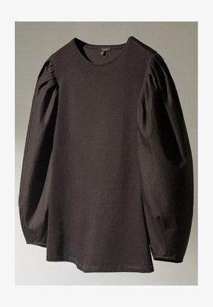 MIT PUFFÄRMELN  - Long sleeved top - black