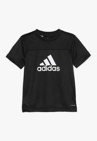 adidas Performance - TEE - Print T-shirt - black/white - 0