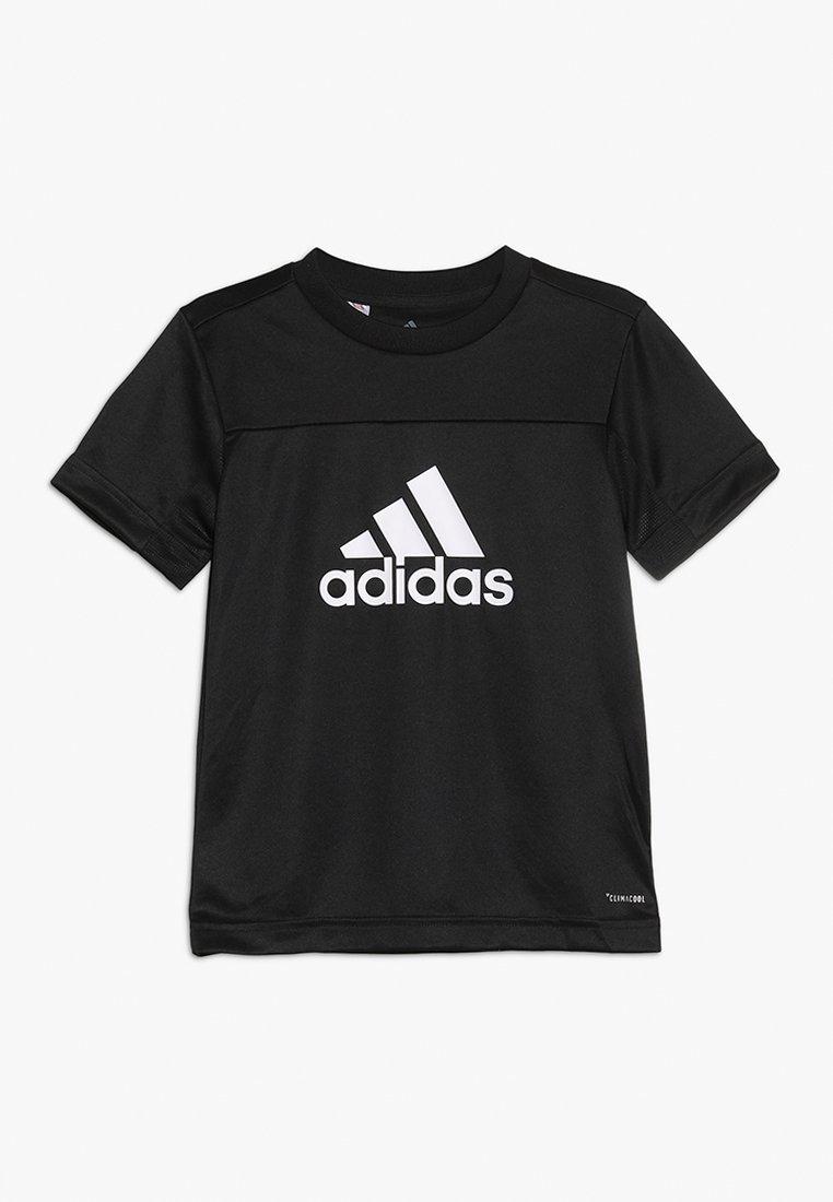 adidas Performance - TEE - Print T-shirt - black/white
