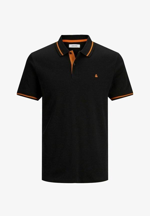 Jack & Jones Koszulka polo - black/czarny Odzież Męska OXJJ