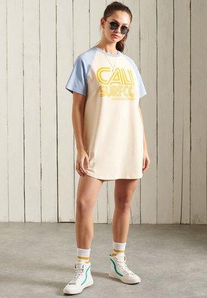 Jersey dress - buttercream