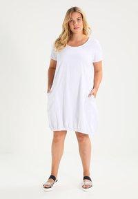Zizzi - MMARRAKESH DRESS - Vestido informal - white - 0
