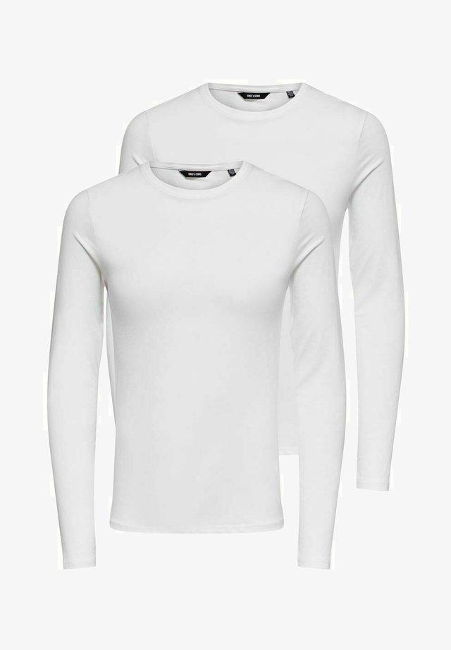 2 PACK - T-shirt à manches longues - white