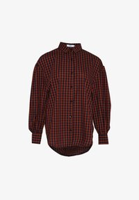 Noella - TATE - Button-down blouse - terracotta checks - 3
