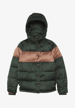 SHORT LENGTH PADDED JACKET WITH DETACHABLE HOOD - Zimní bunda - forest green