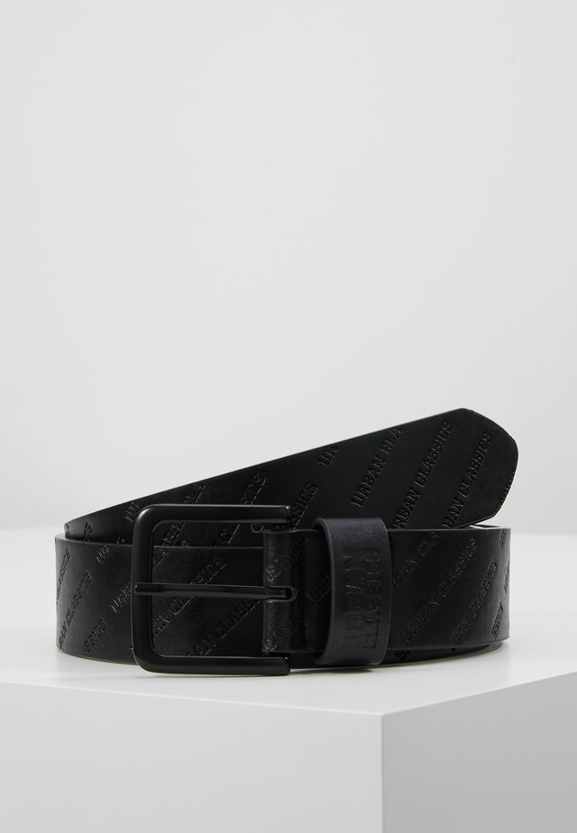 ALLOVER LOGO BELT - Pásek - black