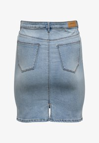 ONLY Carmakoma - Pencil skirt - light blue denim