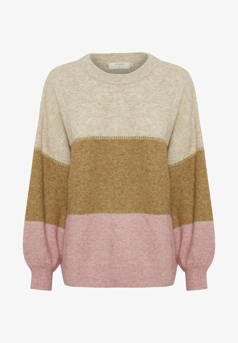 Cream CRANGHA - Strickpullover - rose melange stripe/rosa wGi2cI