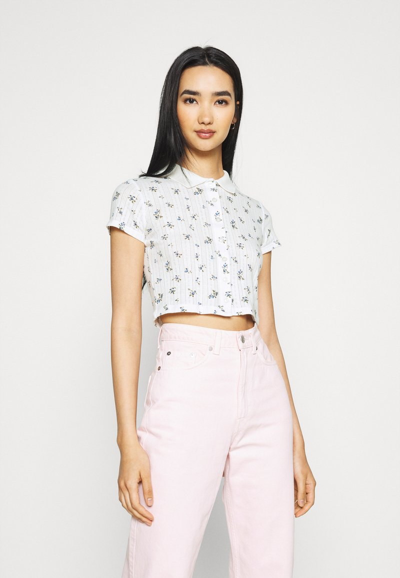BDG Urban Outfitters - POINTELLE DITSY  - Polo shirt - white