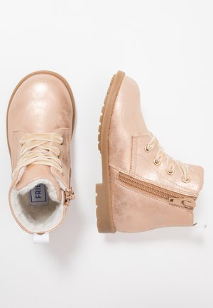 Lace-up ankle boots - rose gold