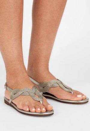 T-bar sandals - gold-coloured