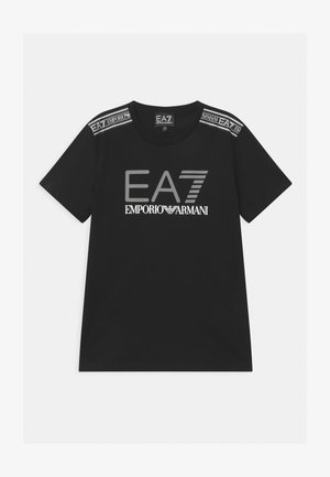 EA7 SIDE TAPE - T-shirts print - black