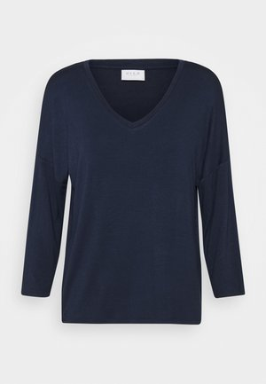 VIAMELLIA V NECK - Camiseta de manga larga - navy blazer