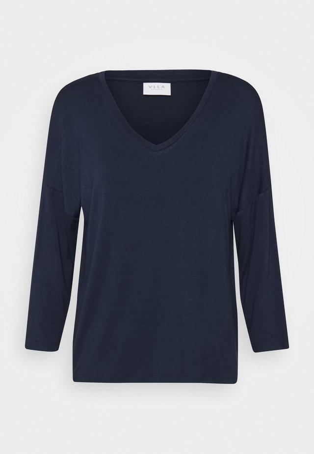 VIAMELLIA V NECK - Bluzka z długim rękawem - navy blazer