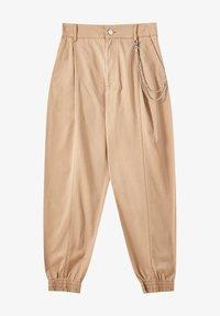 PULL&BEAR - Trousers - mottled brown - 7