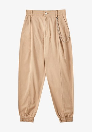 Trousers - mottled brown