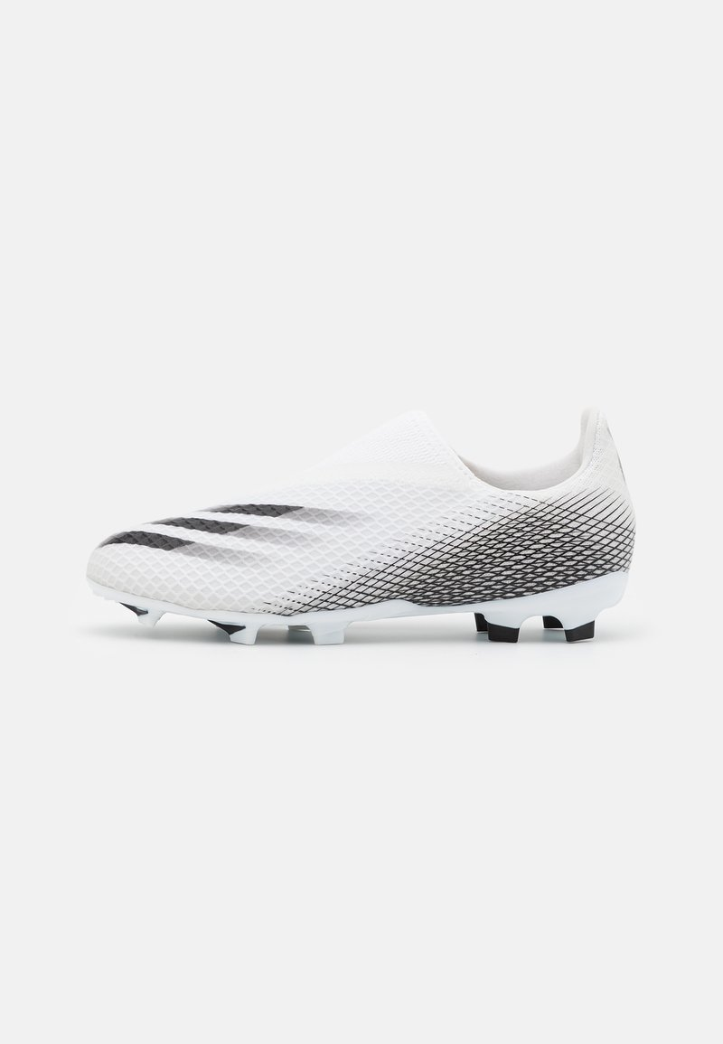 adidas Performance - X GHOSTED.3 FOOTBALL BOOTS FIRM GROUND UNISEX - Moulded stud football boots - core black/metallic gold/grey two