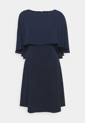 CAPE OVERLAY - Cocktail dress / Party dress - spring navy