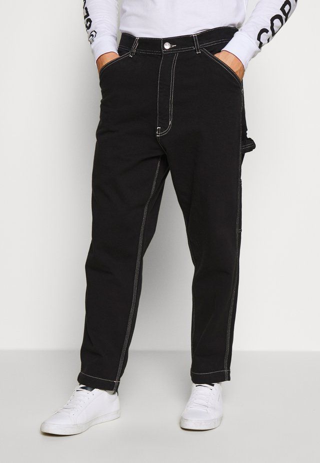 LAMAR TROUSERS - Jeans Tapered Fit - black