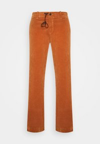 Trousers - metallic red