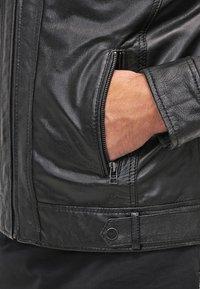Serge Pariente - ERIC HOOD - Leather jacket - black - 4