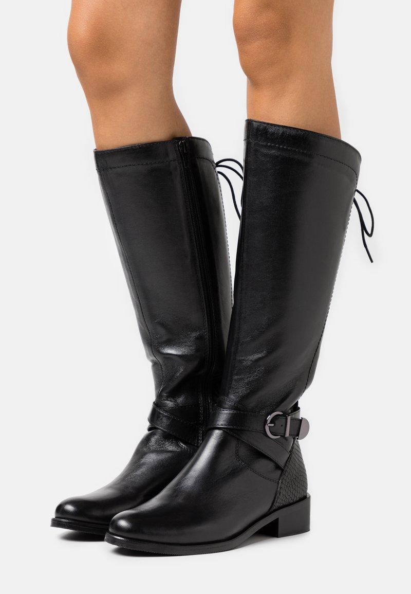San Marina - SABRAVI - Vysoká obuv - noir