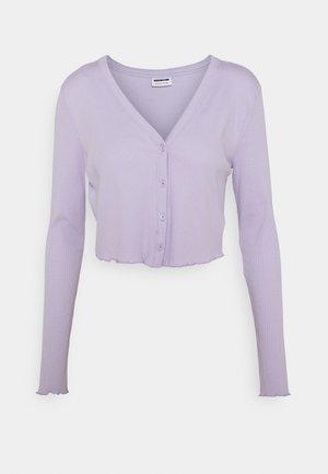 NMDRAKEY CROPPED CARDIGAN - Cardigan - pastel lilac