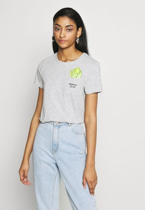 ONLPOLLY LIFE - Print T-shirt - light grey