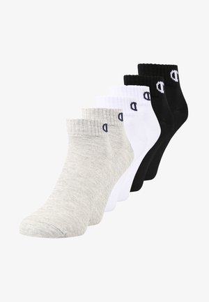 6 PACK - Sports socks - grey/white/black