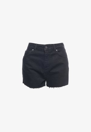 CUT-OFF  - Denim shorts - washed black