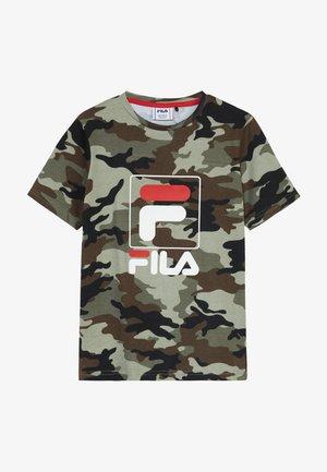 ALLOVER TEE - Print T-shirt - green
