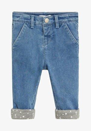 Slim met omgeslagen broekspijpen - Jean slim - middenblauw