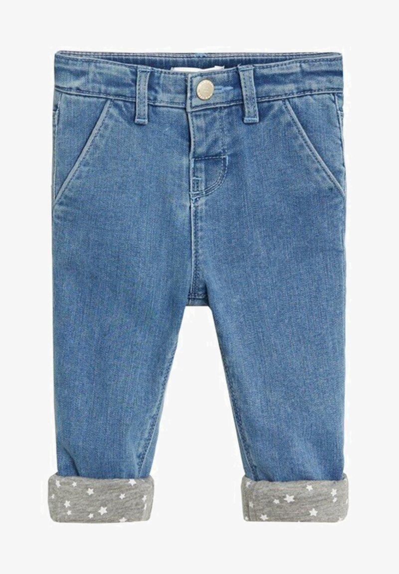 Mango - Slim met omgeslagen broekspijpen - Jean slim - middenblauw