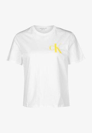 BACK INSTITUTIONAL LOGO SLIM TEE - Print T-shirt - bright white