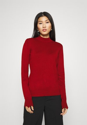 SCALLOP DETAIL JUMPER - Stickad tröja - red