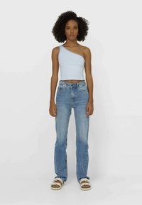 Stradivarius - Jeans straight leg - light blue - 1