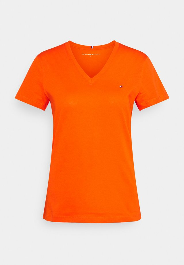 NEW VNECK TEE - T-shirt basique - princeton orange