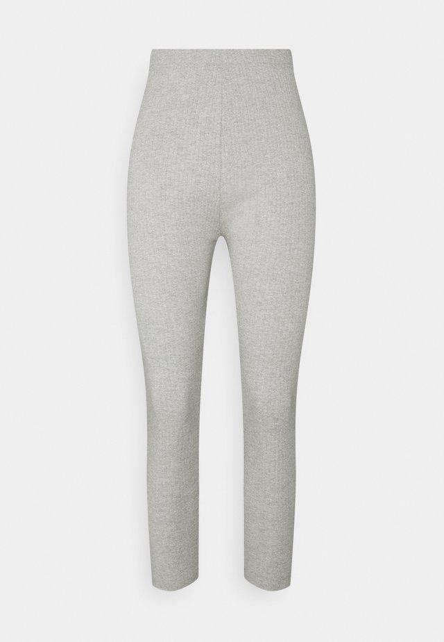 Leggings - Trousers - grey marl