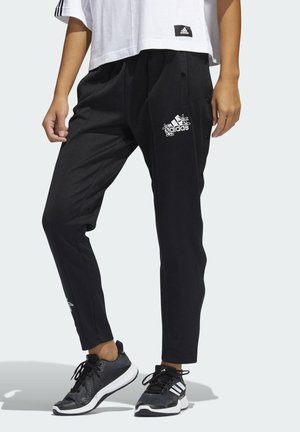 GRAPHIC SNAP JOGGERS - Tracksuit bottoms - black