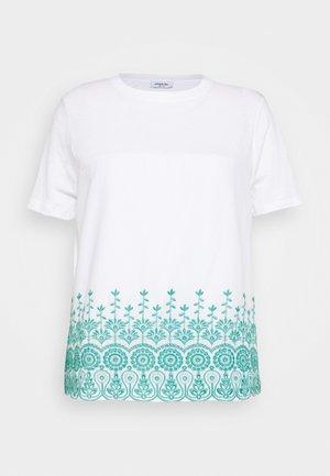 BRODERIE ANGLAIS PANEL - Print T-shirt - white