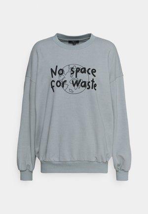 NO WASTE - Sweatshirt - storm gray